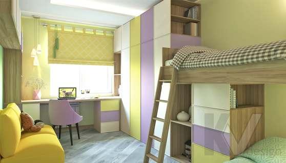 дизайн детской в 3-комнатной квартире, Войковская - 1