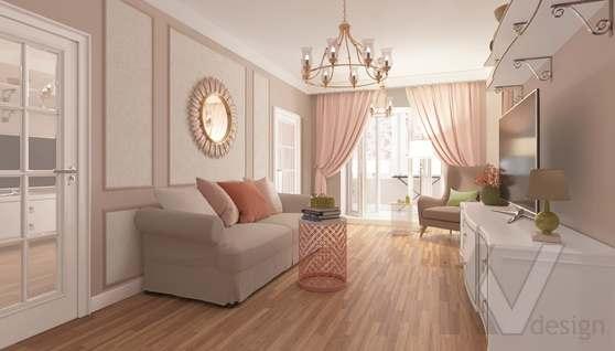 дизайн гостиной-кухни в 3-комн. квартире башни Вулыха - 3
