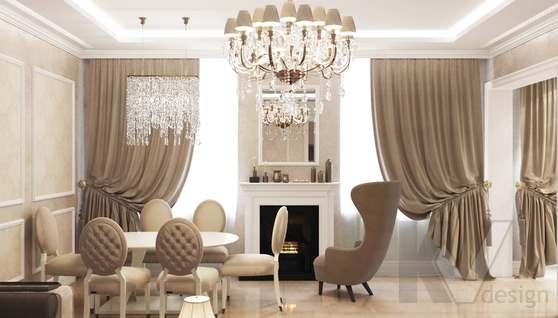 Дизайн гостиной-кухни в доме 500 кв.м., Поведники - 5