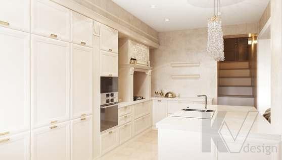Дизайн гостиной-кухни в доме 500 кв.м., Поведники - 6