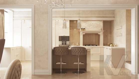 Дизайн гостиной-кухни в доме 500 кв.м., Поведники - 7