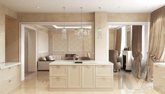 Дизайн гостиной-кухни в доме 500 кв.м., Поведники - 8