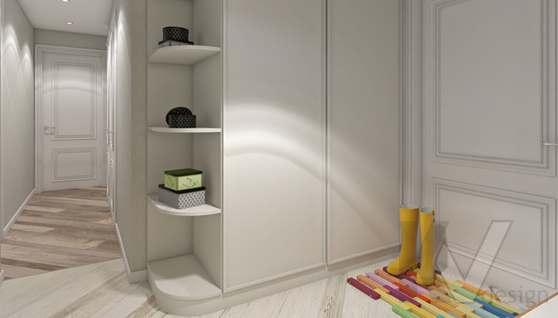 дизайн гостиной в 3-комнатной квартире II-68 - 1