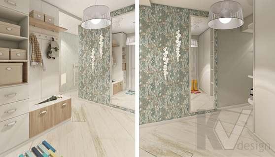 дизайн гостиной в 3-комнатной квартире II-68 - 2