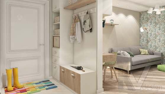 дизайн гостиной в 3-комнатной квартире II-68 - 3