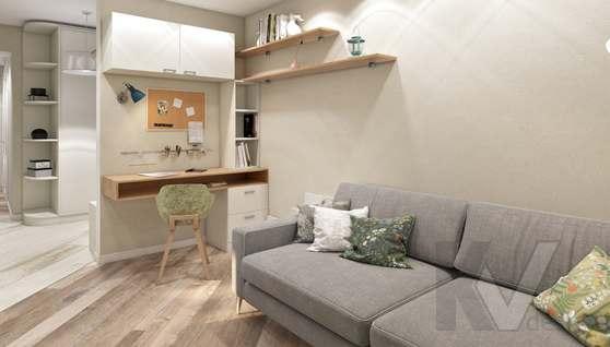 дизайн гостиной в 3-комнатной квартире II-68 - 4