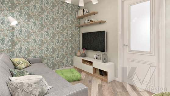 дизайн гостиной в 3-комнатной квартире II-68 - 5