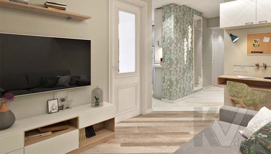 дизайн гостиной в 3-комнатной квартире II-68 - 6