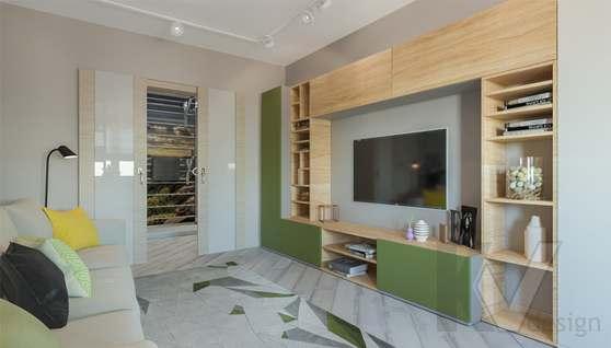 дизайн гостиной в 3-комнатной квартире, Войковская - 2
