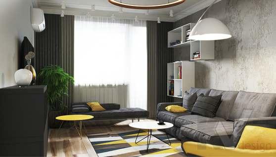 Дизайн гостиной в двухкомнатной квартире, Сходненская - 1