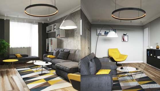 Дизайн гостиной в двухкомнатной квартире, Сходненская - 5