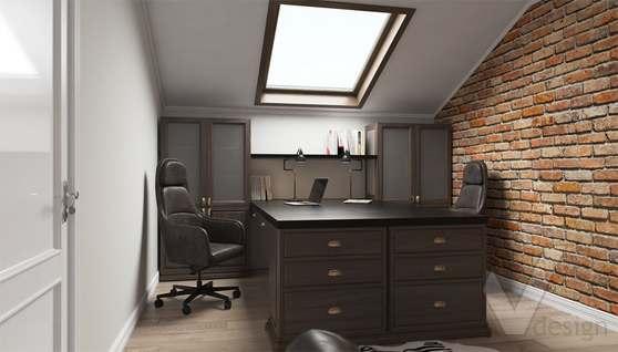 Дизайн кабинета в доме 500 кв.м., Поведники - 1