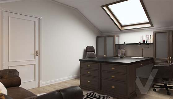 Дизайн кабинета в доме 500 кв.м., Поведники - 3