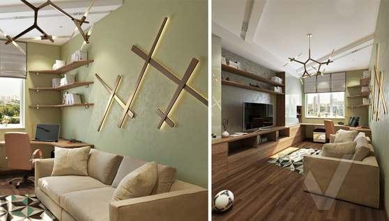 Дизайн комнаты подростка в двухкомнатной квартире, ЖК Розмарин - 2