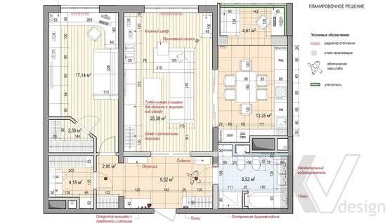 Дизайн комнаты подростка в двухкомнатной квартире, ЖК Розмарин - 3