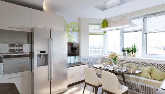 Дизайн кухни в 2-комнатной квартире, Некрасовка Парк - 1