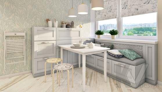 дизайн кухни в 3-комнатной квартире II-68 - 2