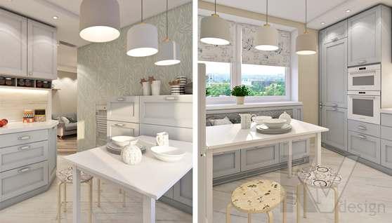 дизайн кухни в 3-комнатной квартире II-68 - 3