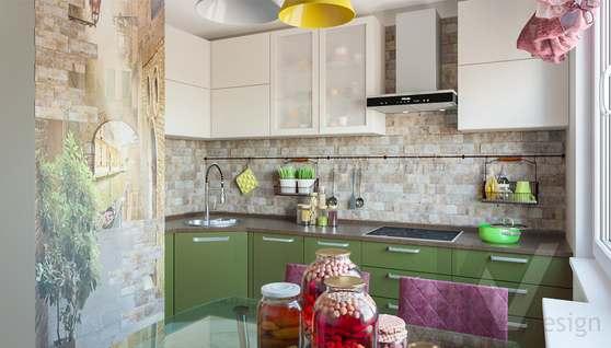 дизайн кухни в 3-комнатной квартире, Войковская - 1