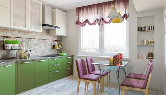 дизайн кухни в 3-комнатной квартире, Войковская - 2
