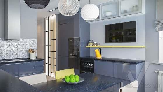 Дизайн кухни в двухкомнатной квартире, Сходненская - 1