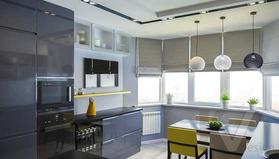 Дизайн кухни в двухкомнатной квартире, Сходненская - 2
