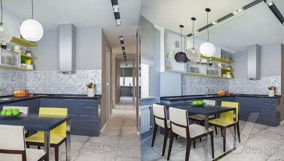 Дизайн кухни в двухкомнатной квартире, Сходненская - 5