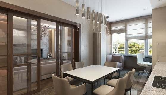 Дизайн кухни в двухкомнатной квартире, ЖК Розмарин - 2