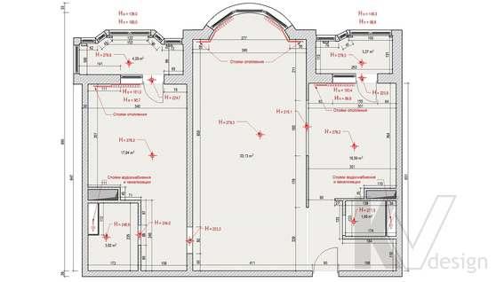 Дизайн квартиры на Профсоюзной, обмерный план