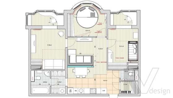 Дизайн квартиры в Митино, планировка-2