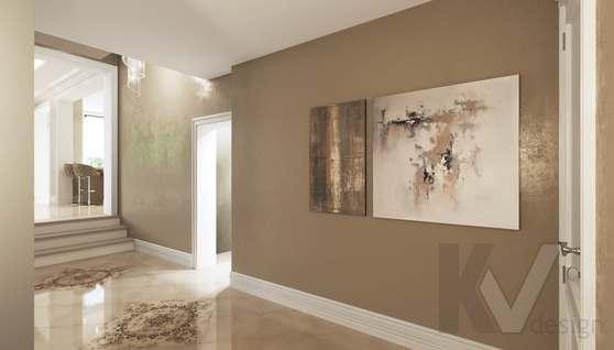 Дизайн прихожей и лестницы в доме 500 кв.м., Поведники - 2