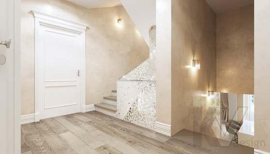 Дизайн прихожей и лестницы в доме 500 кв.м., Поведники - 3