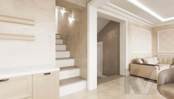 Дизайн прихожей и лестницы в доме 500 кв.м., Поведники - 4