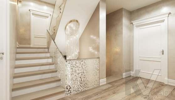 Дизайн прихожей и лестницы в доме 500 кв.м., Поведники - 5