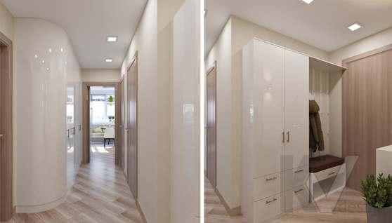 Дизайн прихожей в 2-комнатной квартире, Некрасовка Парк - 2