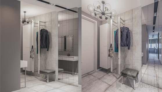 Дизайн прихожей в двухкомнатной квартире, Сходненская - 1