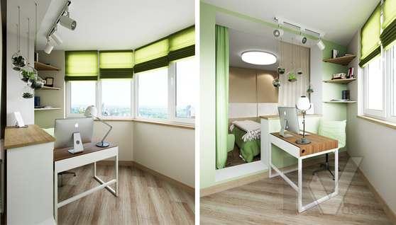 Дизайн спальни в 2-комнатной квартире, Некрасовка Парк - 4