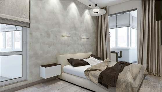 дизайн спальни в 3-комн. квартире, Москворечье - 1