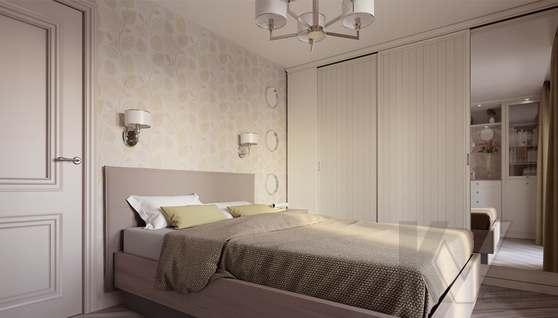 дизайн спальни в 3-комнатной квартире II-68 - 1