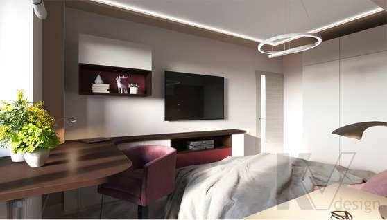 дизайн спальни в 3-комнатной квартире, Войковская - 2