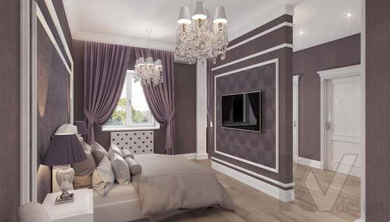 Дизайн спальни в доме 500 кв.м., Поведники - 10
