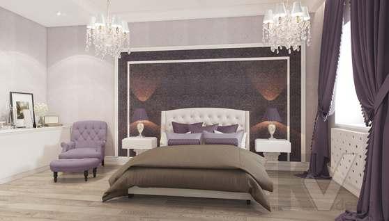 Дизайн спальни в доме 500 кв.м., Поведники - 2