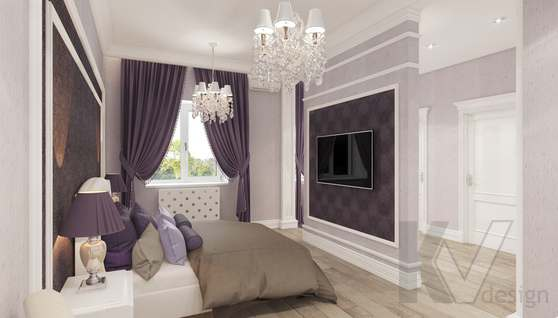 Дизайн спальни в доме 500 кв.м., Поведники - 4