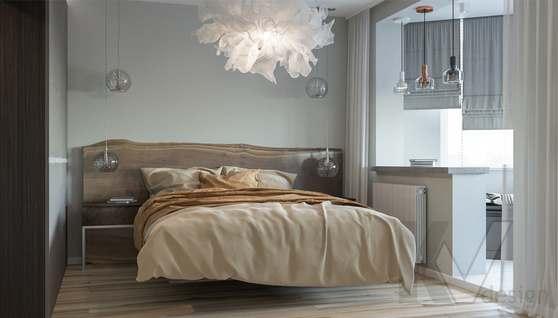 Дизайн спальни в двухкомнатной квартире, Сходненская - 1