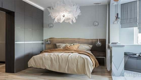 Дизайн спальни в двухкомнатной квартире, Сходненская - 2