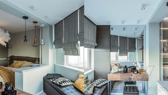 Дизайн спальни в двухкомнатной квартире, Сходненская - 6