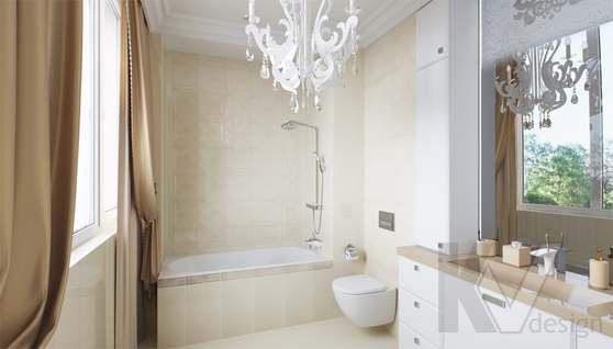 Дизайн ванной комнаты в доме 500 кв.м., Поведники - 1