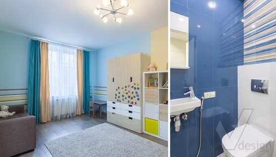 Фотография детской комнаты после ремонта, проспект Вернадского - 1