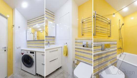 Фотография ванной комнаты после ремонта, проспект Вернадского - 1