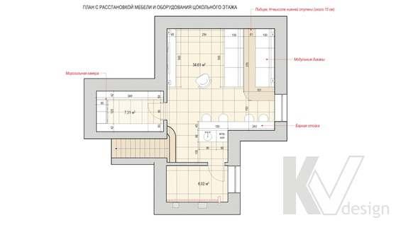 Перепланировка первого этажа дома в доме 500 кв.м., Поведники